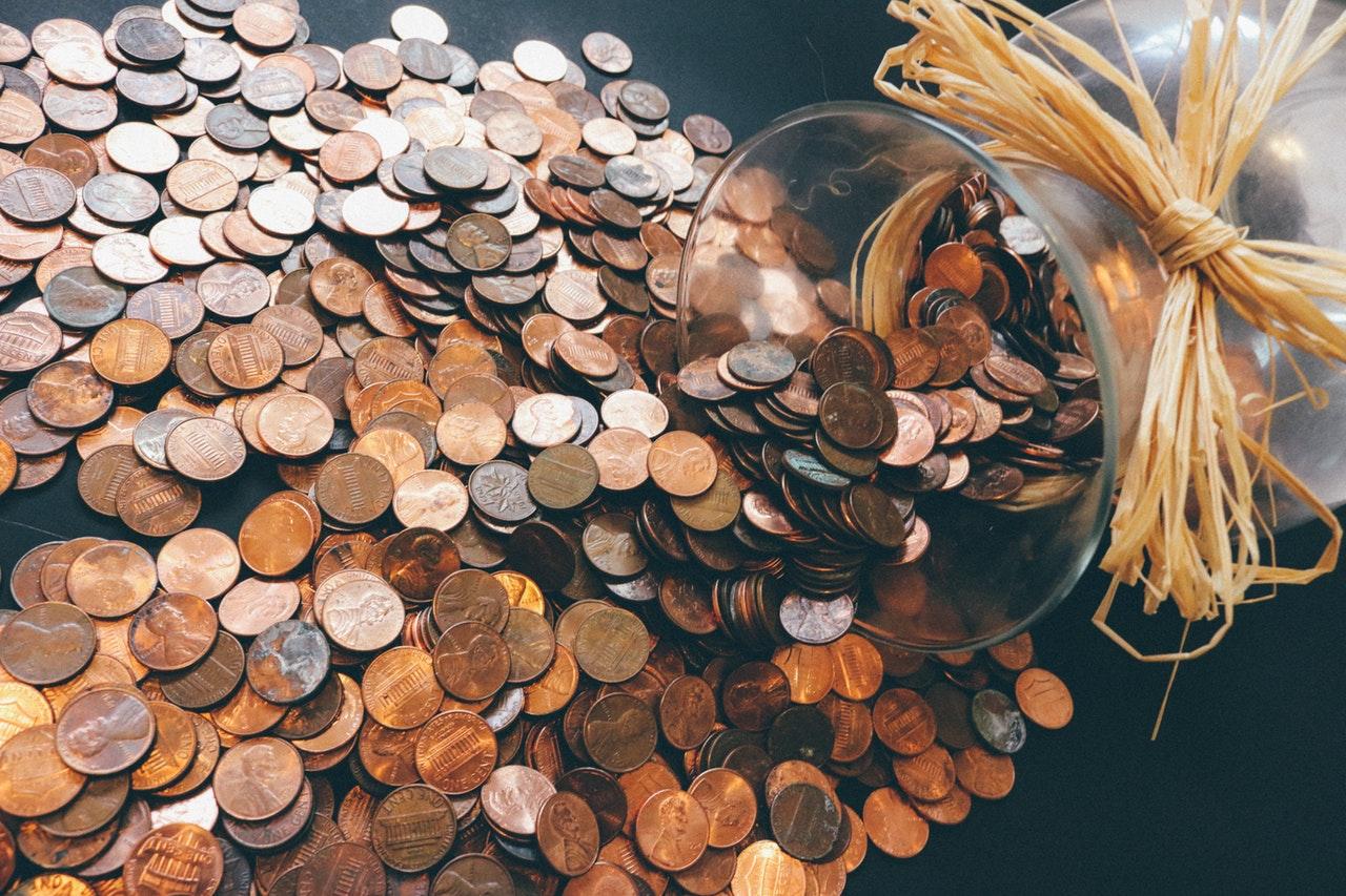 Massor av mynt